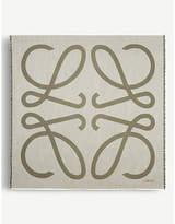 Loewe Anagram wool and silk-blend scarf