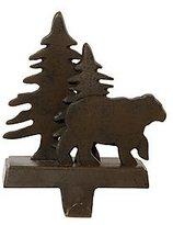 Park Designs Cast Iron Christmas Holiday Stocking Hanger Bear & Tree