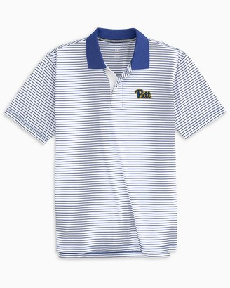 Southern Tide Pittsburgh Panthers Pique Striped Polo Shirt