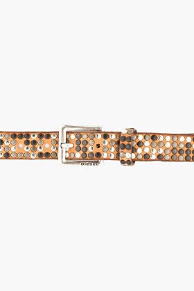 Diesel Tan Studded Leather Belt