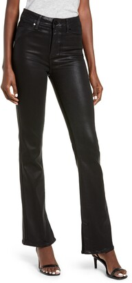 Paige Manhattan High Waist Coated Bootcut Jeans