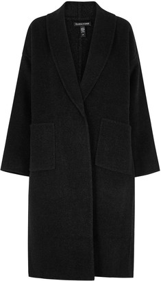 Eileen Fisher Anthracite Wool And Cashmere-blend Coat