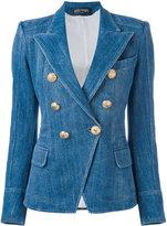 Balmain double-breasted denim blazer - women - Cotton/Viscose/Polyester - 36