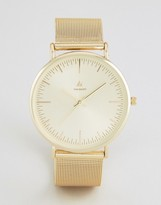 Asos Mesh Strap Watch In Gold
