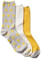 Cozy crew socks (3-pair)