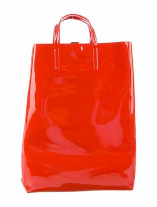 Acne Studios Patent Leather Tote Orange