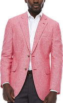 STAFFORD Stafford Linen Cotton Red Sport Coat- Classic Fit