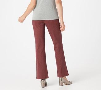 Women with Control Petite Herringbone Boot Cut Pants