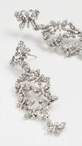 Oscar de la Renta Pave Butterfly Earrings