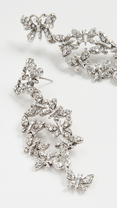 Oscar de la Renta Pave Butterfly Earrings