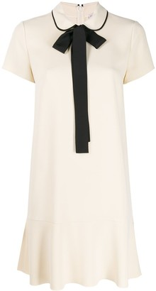 RED Valentino pussycat bow collar dress