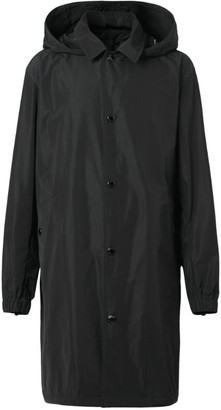 Burberry Taffeta Car Coat With Detachable Hood