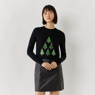 Warehouse CHRISTMAS TREE JUMPER