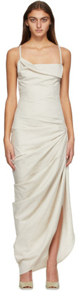 Jacquemus Beige La Robe Saudade Longue Dress