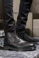 Mens Next Black Ridged Sole Tall Boots - Black