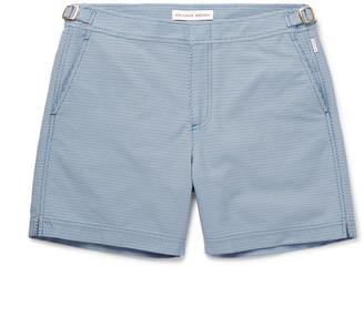 Orlebar Brown Bulldog X Pensacola Mid-Length Jacquard Swim Shorts - Men - Blue