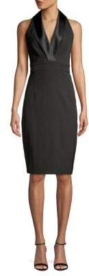 Eliza J Shawl Collar Knee-Length Sheath Dress