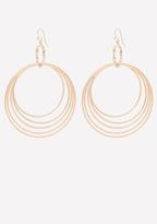 Bebe Glitter Circle Earrings