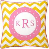 Pottery Barn Teen Monogram Pillow Cover, 18x18, Yellow Chevron