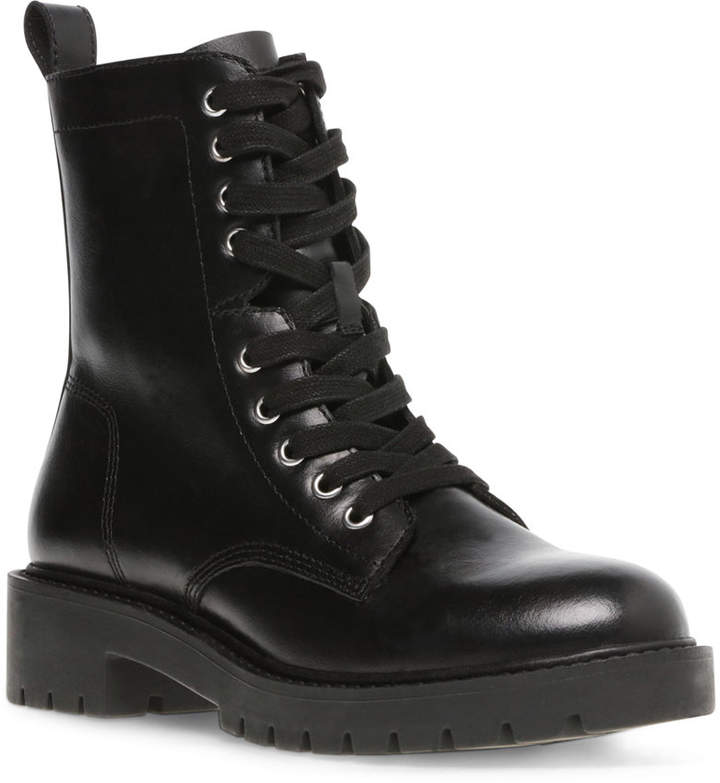 Steve Madden Guided Combat Leather Booties
