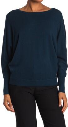 T Tahari Boatneck Dolman Sleeve Sweater