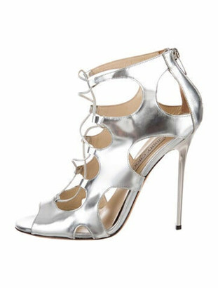 Jimmy Choo Leather Sandals Silver