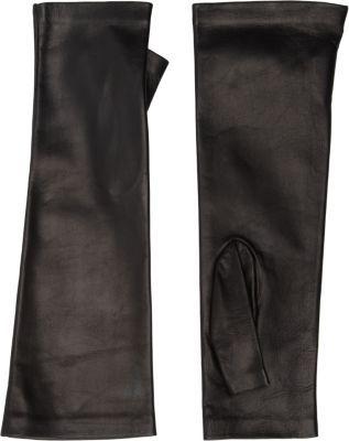 Barneys New York Long Fingerless Leather Gloves