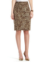 Jones New York Collection JONES NEW YORK Leopard Print Pencil Skirt