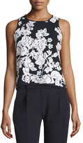 Milly Sleeveless Floral Shell