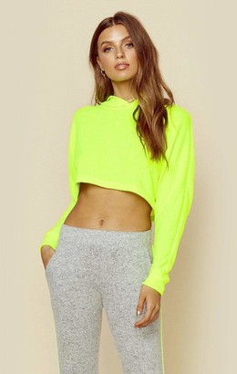 Blue Life Long Sleeve Neon Crop