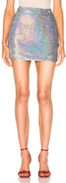Ashish Sequin Mini Skirt in Metallics.