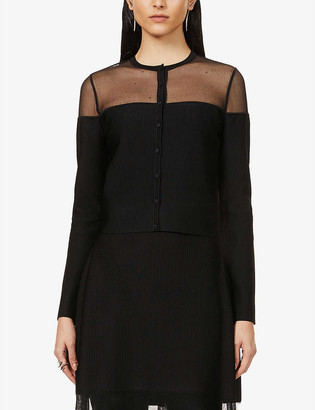 Alexander McQueen Semi-sheer stretch-knit cardigan