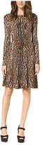 Michael Kors Animal-Print Sweater Dress Petite