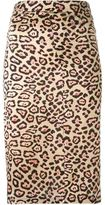 Givenchy leopard print A-line skirt - women - Silk - 36