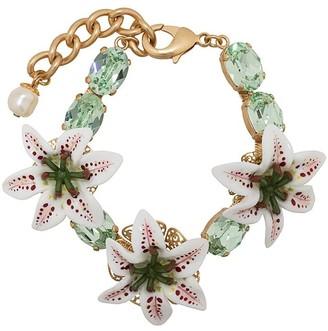 Dolce & Gabbana Flower embellished bracelet
