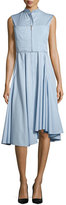 Jason Wu Sleeveless Twill Shirting Dress, Lake Blue