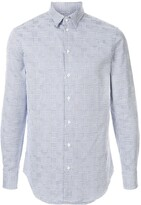 Emporio Armani slim-fit embroidered shirt