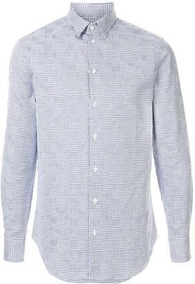Emporio Armani slim-fit embroidered shirt