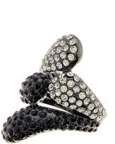 Ariella Collection Double Bypass Pave Ring - Size 7
