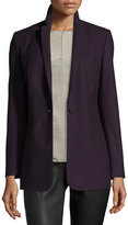 Elie Tahari Bonnie One-Button Stretch-Wool Blazer