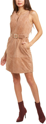 Trina Turk Sultana Suede Mini Dress