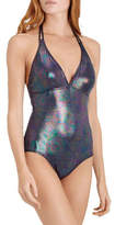 Vilebrequin Faste Iridescent Halter One-Piece Swimsuit