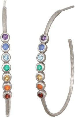 Satya Chakra Multi-Gemstone Hoop Earrings