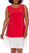 Tiana B Blu Sage Sleeveless Colorblock Sundress - Plus