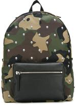 Alexander McQueen skull and camouflage backpack - men - Polyamide/Leather - One Size