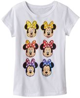 Disney Disney's Minnie Mouse Girls 7-16 Glitter Bows Graphic Tee