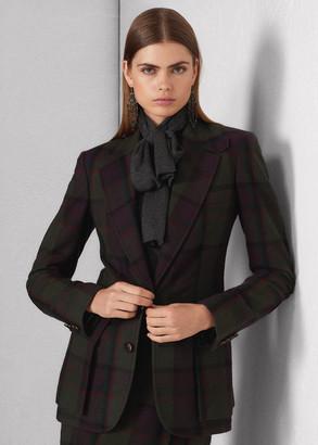 Ralph Lauren Preston Plaid Cashmere-Wool Jacket