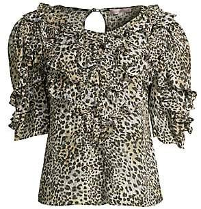 Rebecca Taylor Women's Lynx Stretch-Silk Ruffle Top - Size 0
