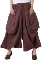 Mordenmiss Women's Casual Harem Pants with Big Pockets (XL, )