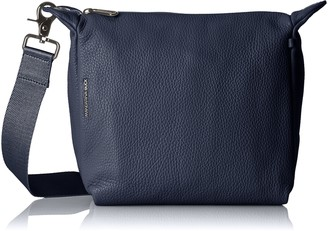 Mandarina Duck Women's Mellow Leather Tracolla 10 x 24 x 25.5 cm Blue Size: UK One Size